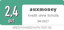 Testsiegel: auxmoney Kredit ohne Schufa