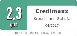 Testsiegel: Credimaxx Kredit ohne Schufa