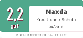 Testsiegel: Maxda Kredit ohne Schufa